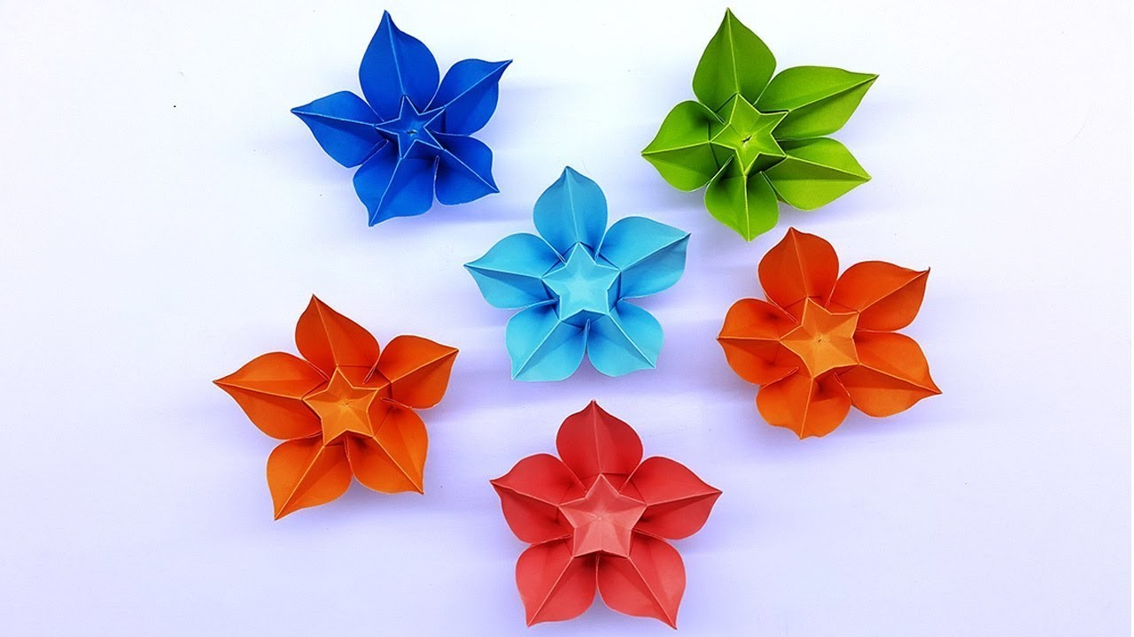 Tutoriel Carambola Flower Making Easy Origami Tutorial Diy Paper