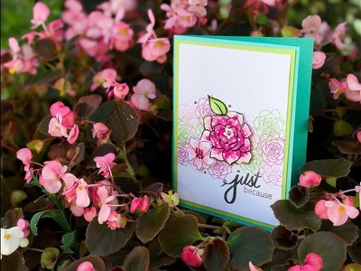 Craft Your Joy Card Tutorial: Whimsical Watercolor + Pattern Stamping