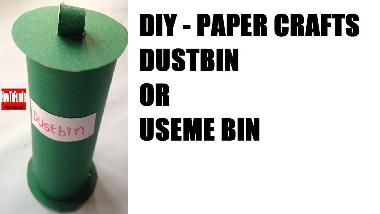 Creative mini dustbin making tutorial at home | school easy | clean India initiative | exhibition