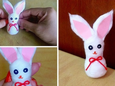 Cute and easy doll rabbit from cotton.Malayalam video. Easy craft.