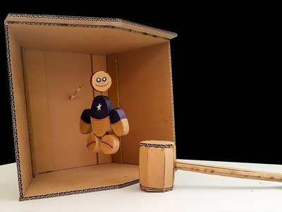DIY Amazing Kick The Buddy Game Out Of Cardboard. NB Tricks