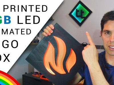 DIY animated RGB logo box - 3D print or laser.CNC!