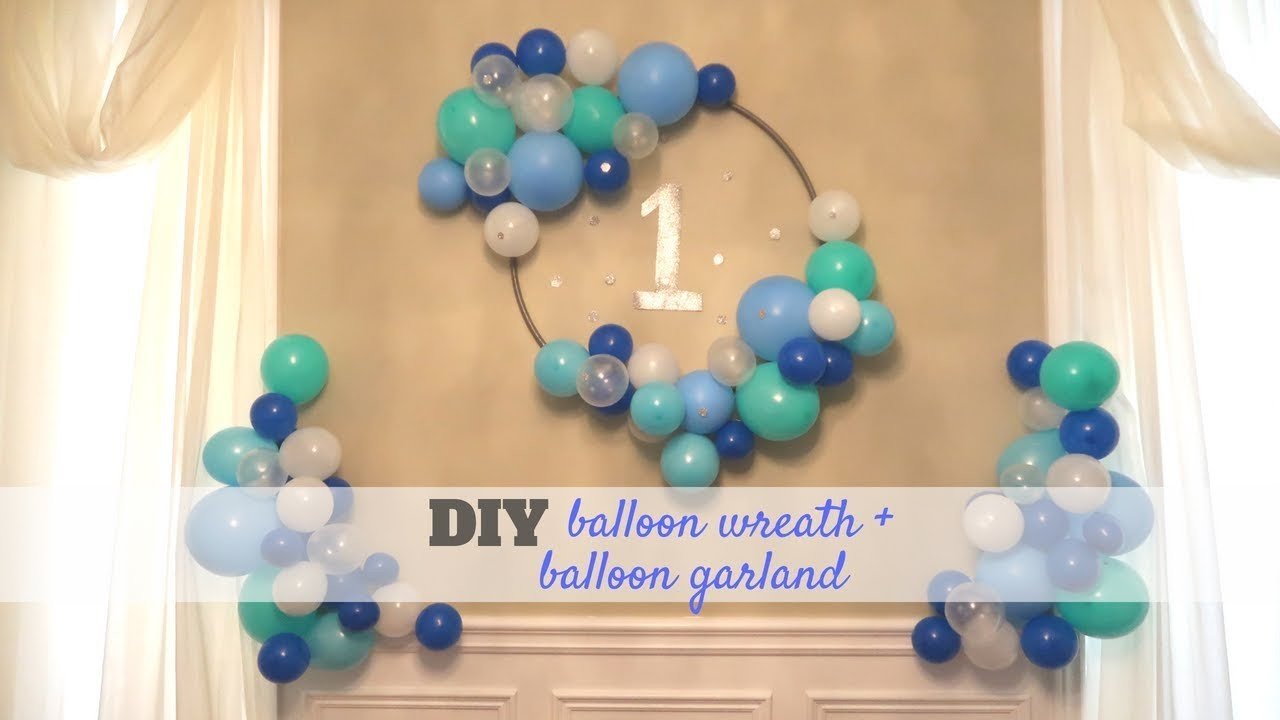 DIY Balloon Hula Hoop Wreath AND Garland