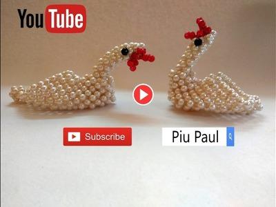 Diy beading tutorial-Beaded duck making step by step in Hindi