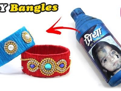 DIY Craft : Awesome Idea of Palstic Bottle | Plastic Bottle Jewellery | Silk Thread Craft