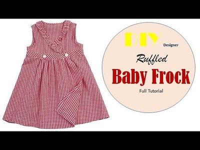 DIY Designer Angrakha style Ruffled Neck Baby Frock Full Tutorial