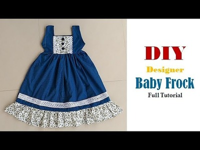 Diy Designer Baby Frock For 3 to 4 year Full Tutorial