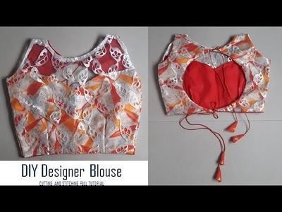 DIY Designer Blouse.Choli cutting and Stitching full tutorial