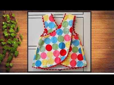 DIY Designer Stylish Cute Baby Top Cutting And Stitching Tutorial
