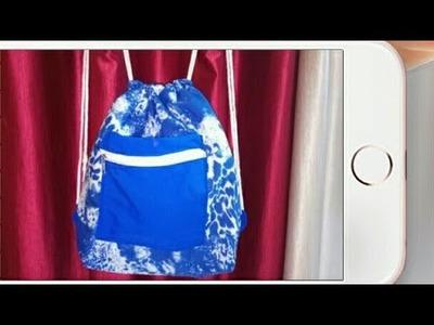 DIY: Drawstring back pack Tutorial By Anamika Mishra. .