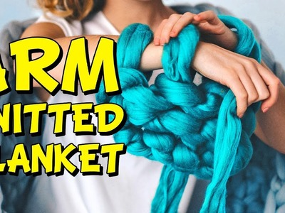 DIY: How to hand knit an extra chunky merino blanket