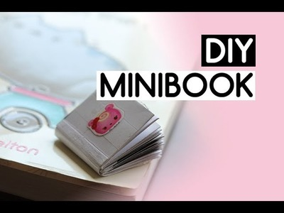 DIY How to Make a Mini Book Out of One Paper | Pink Penguiny
