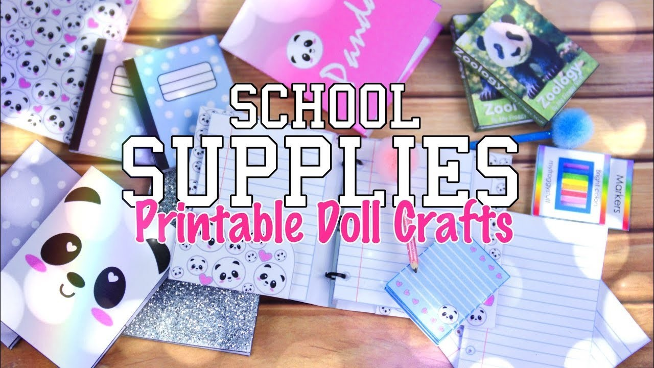 DIY - How to Make: Doll School Supplies | EASY | Working Note Books | Paper | Pencils & more