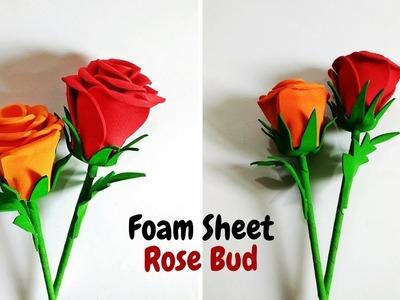DIY : How to make Foam Sheet Rose Flower  | Rose Bud | Craftastic