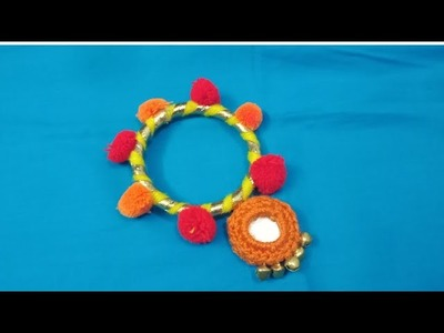 DIY how to make lumba rakhi at home, bhabhi rakhi tutorial easy