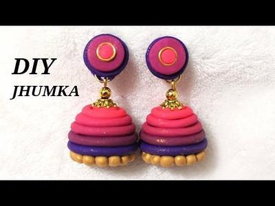 DIY How To Make Polymer Clay Gradient (Skinner Blend) Jhumka | Jewelry Making Tutorial