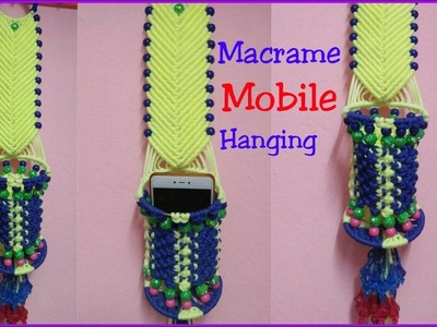DIY Macrame Mobile Hanger Making Tutorial