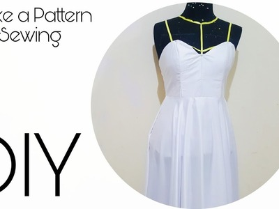DIY: Make Your Own Gown part 2 Sewing and make a pattern