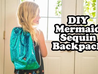 DIY Mermaid Sequin Backpack   Back to School Sewing