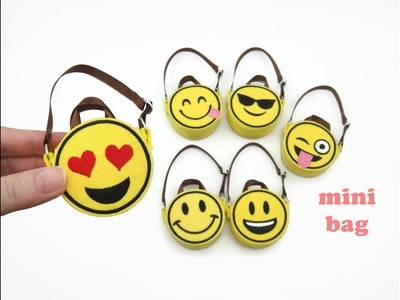 DIY Miniature Doll Mini Emoji Tote Sling Bag