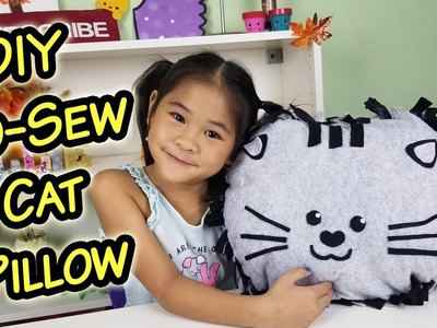 DIY No-Sew Cat Face Pillow | No-Sew Kitty Cusion Tutorial | How to Make a Cat Face Pillow.
