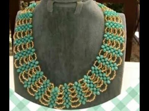 DIY on how to make this yellow and green beaded jewelry.