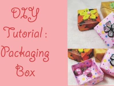 DIY Packaging Box tutorial. Kotak kemasan Aksesoris