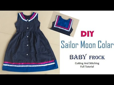 DIY Sailor Moon Colar Baby Frock Full Tutorial
