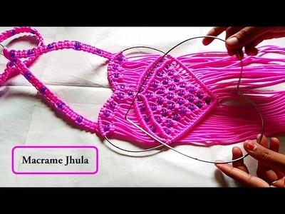 DIY Simple Macrame Teddy Jhula tutorial | step by step | teddy Jhula macrame design
