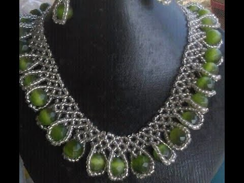 DIY tutorial on how to make this beautiful elegant jewelry.