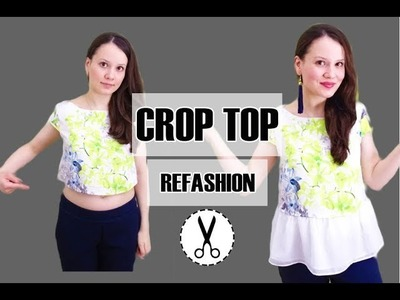 Easy Crop Top Refashion DIY | Alisa Shay