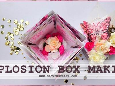 EASY explosion box making tutorial ♡ how to make explosion box card ♡ DIY card ♡ HANDMADE CARD IDEAS