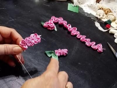 EASY Ribbon Flowers - Tutorial- DIY How to make