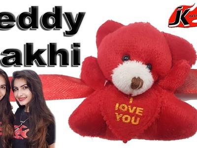 Easy Teddy Bear Rakhi for kids - JK Easy Craft 266