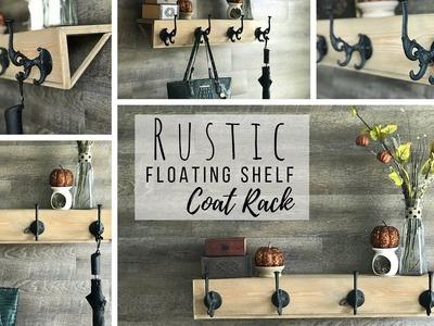 Floating Shelf Coat Rack | Rustic Decor | Budget Friendly DIY | Fall Decor Ideas |  Ashleigh Lauren