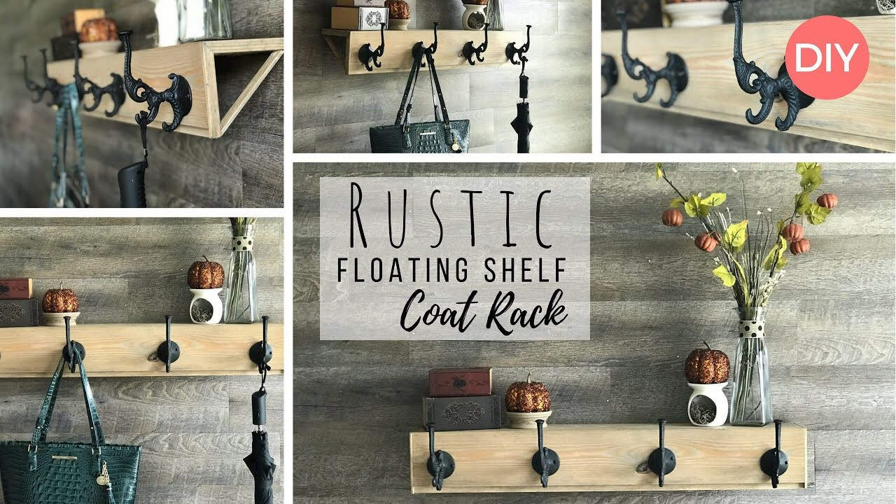 Floating Shelf Coat Rack | Rustic Decor | Budget Friendly DIY | Fall Decor Ideas |  Ashleigh Lauren