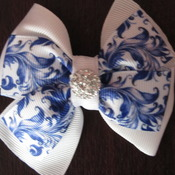 Handmade hair ribbon bow for girl alligator clip hair accessories