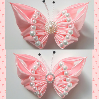 Handmade hair ribbon bow for Girls alligator clip
