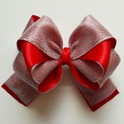 Handmade hair ribbon bow for girls alligator clip hair accessories