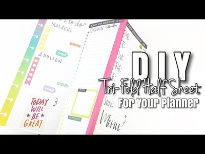 How To Create DIY Tri-Fold Half Sheet For Your Planner | At Home With Quita
