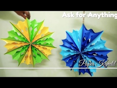 How to make a Paper Kandil for Diwali Decoration - DIY