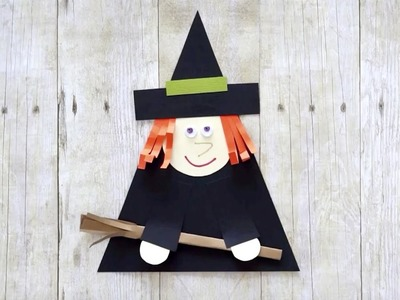 How to Make a Simple Witch Paper Craft for Kids