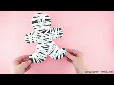 How to Make a Yarn Wrapped Mummy Craft