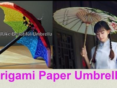 How to Make Beautiful Umbrella (origami Umbrella tutorial), DIY Paper crafts - Origami Umbrella