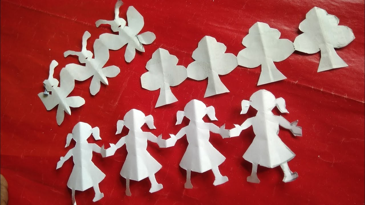 How to make Doll, Tree, Butterfly #Paper Craft