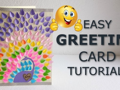 How to make easy greetings card.Diy greetings card