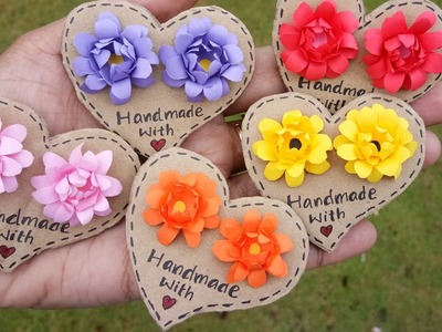 How to Make Flower Earrings. DIY Handmade Jewelry