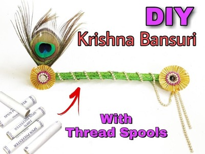 How to make Krishna flute with Thread Spools  | DIY | Art n Creations