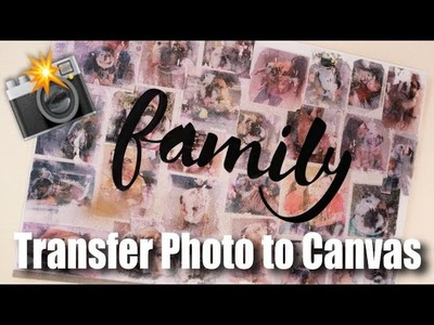 How to Transfer Photos to a Canvas | DIY Step by Step Tutorial Photo Collage | Cindy G. Castillo