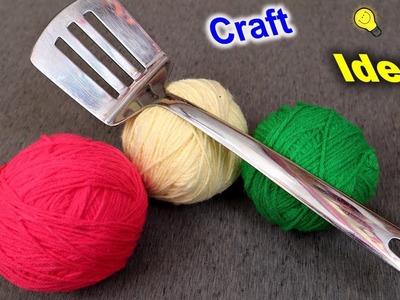 Innovative Traditional Woolen Craft Idea    DIY Woolen Wall Decor Craft